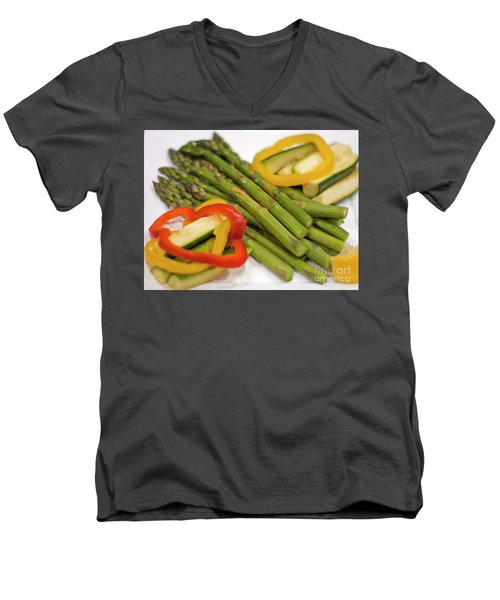 Asparagus Men's V-Neck T-Shirt by Loriannah Hespe