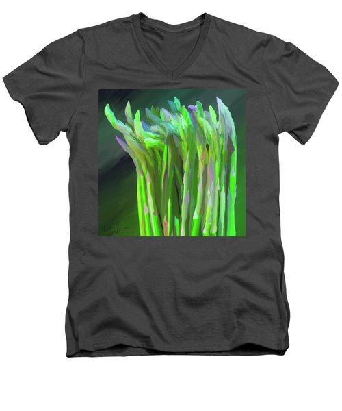 Asparagus Study 01 Men's V-Neck T-Shirt by Wally Hampton