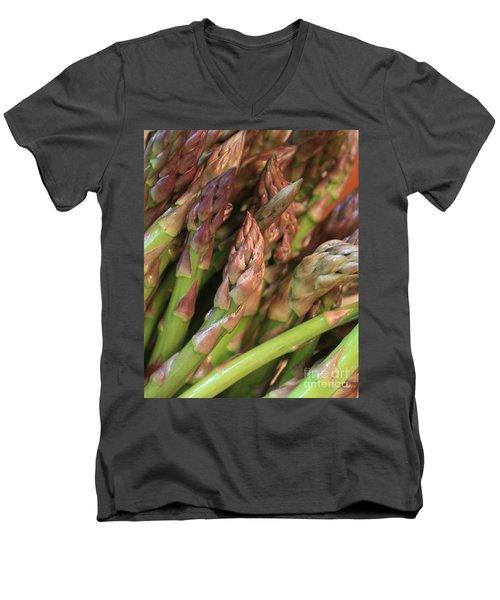 Asparagus Tips 2 Men's V-Neck T-Shirt by Carol Groenen