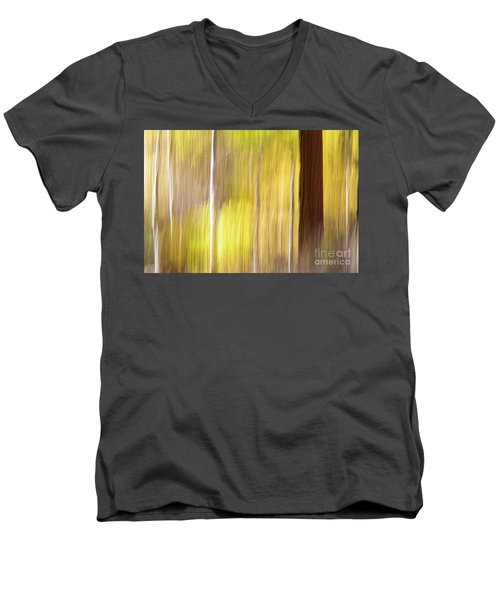 Men's V-Neck T-Shirt featuring the photograph Aspen Blur #1 by Vincent Bonafede