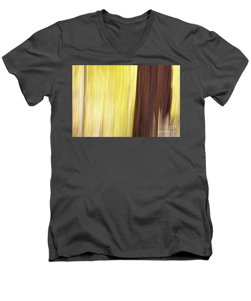 Men's V-Neck T-Shirt featuring the photograph Aspen Blur #3 by Vincent Bonafede