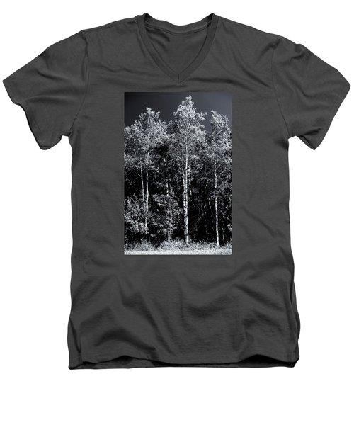 Aspen Drama Men's V-Neck T-Shirt by Shelly Gunderson