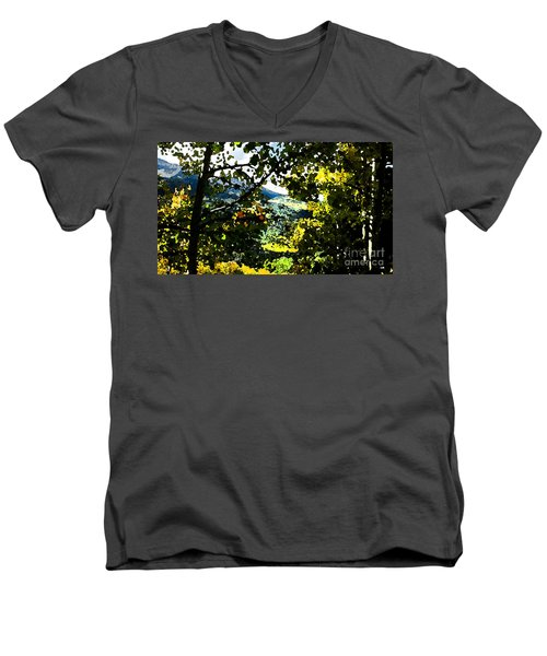 Aspen Effect Men's V-Neck T-Shirt by Deborah Nakano