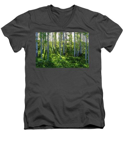Aspen Morning 1 Men's V-Neck T-Shirt