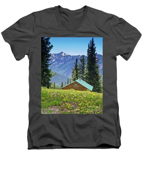 Aspen Spring Men's V-Neck T-Shirt