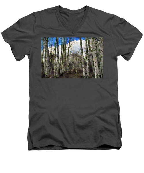 Aspen Standing Men's V-Neck T-Shirt
