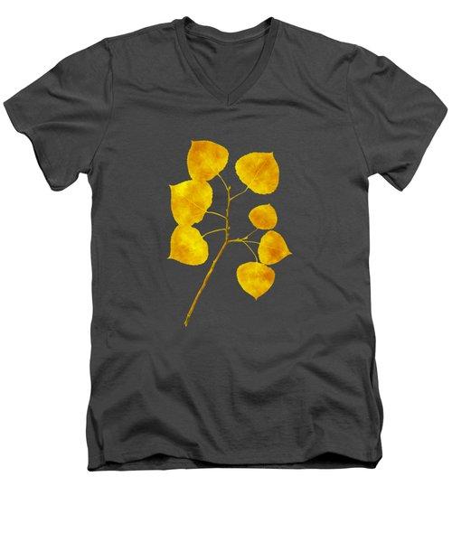 Aspen Tree Leaf Art Men's V-Neck T-Shirt