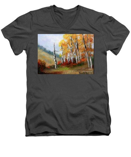 Aspens En Plein Air Men's V-Neck T-Shirt