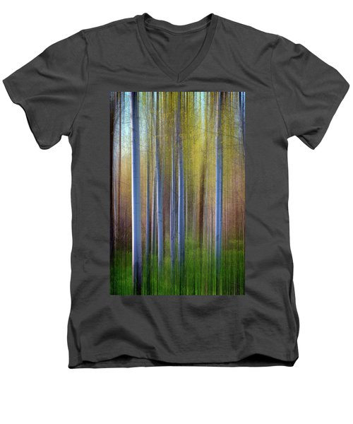 Aspens In Springtime Men's V-Neck T-Shirt