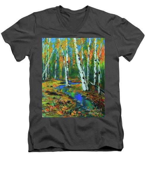 Aspens Men's V-Neck T-Shirt by Jeanette French