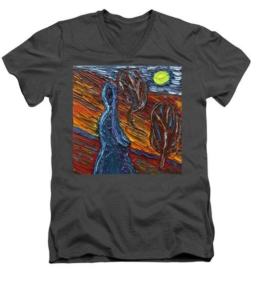 Aspiration Men's V-Neck T-Shirt by Vadim Levin