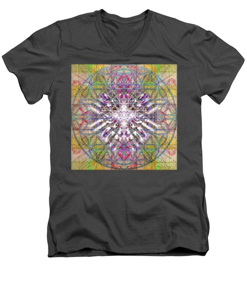 Assent From The Womb In The Flower Tree Of Life Men's V-Neck T-Shirt by Christopher Pringer