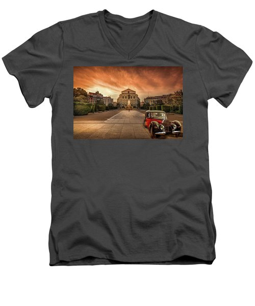 Assignation Men's V-Neck T-Shirt by Marty Garland