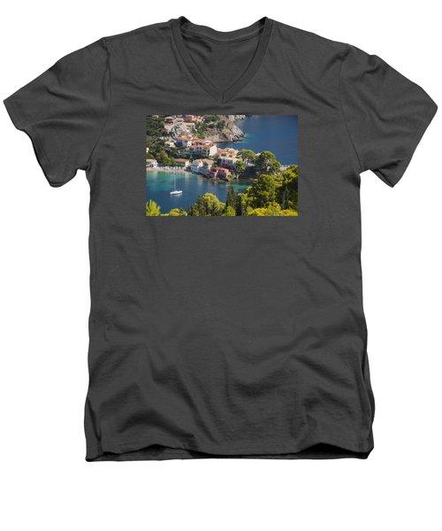 Men's V-Neck T-Shirt featuring the photograph Assos In Greece by Rob Hemphill