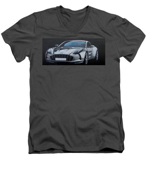 Aston Martin One-77 Men's V-Neck T-Shirt