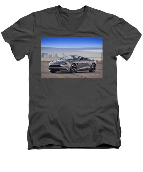 Aston Vanquish Convertible Men's V-Neck T-Shirt