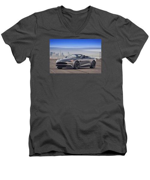 Aston Vanquish Convertible Men's V-Neck T-Shirt