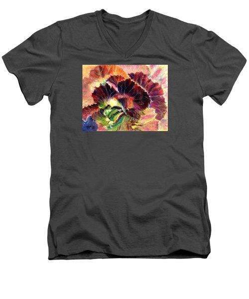 Astonishing Cabbage  Pastel Men's V-Neck T-Shirt