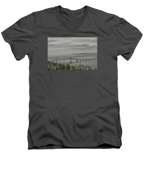 Men's V-Neck T-Shirt featuring the photograph Astoria, Gateway To Oregon by Tom Kelly
