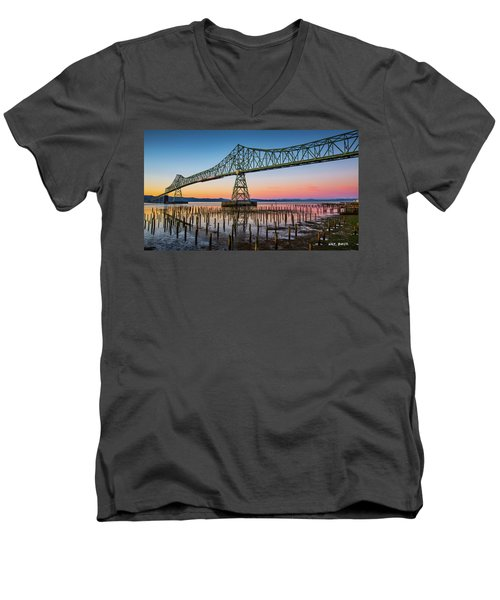 Astoria Megler Bridge Men's V-Neck T-Shirt