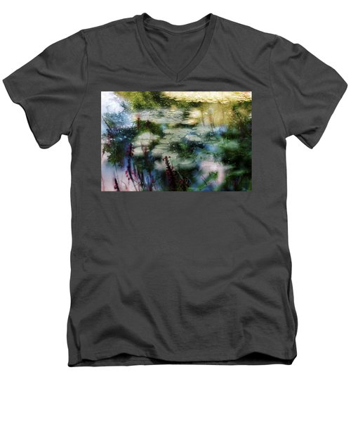 At Claude Monet's Water Garden 2 Men's V-Neck T-Shirt
