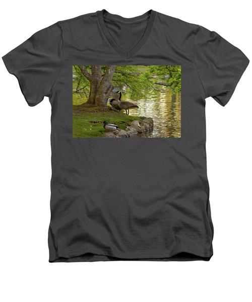 At Days End Men's V-Neck T-Shirt