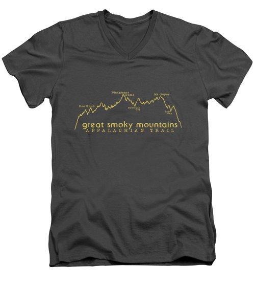 At Elevation Profile Gsm Mustard Men's V-Neck T-Shirt