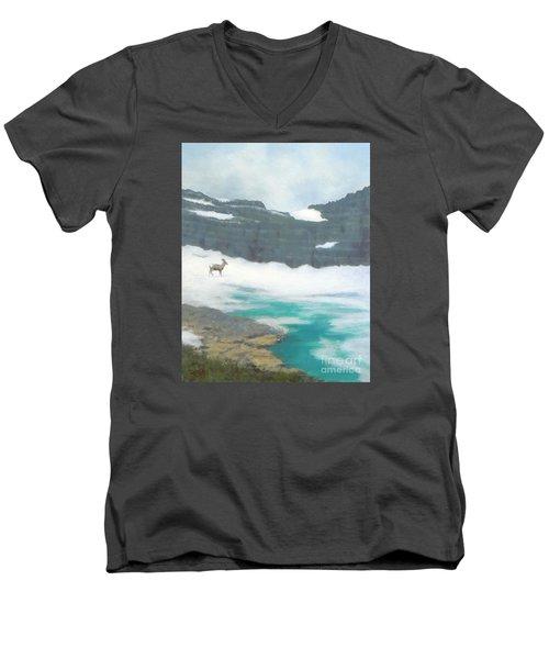 At Grinnell Glacier Men's V-Neck T-Shirt