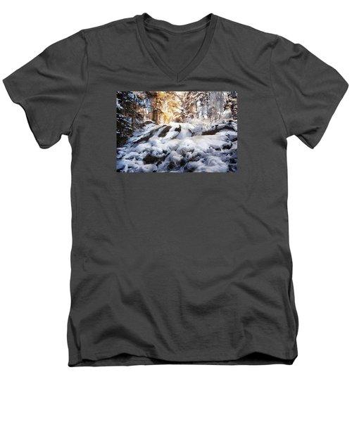 At Last Winter Arrived Men's V-Neck T-Shirt by Gun Legler
