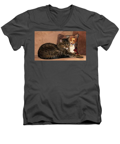 At Least One Thing Dogs Are Good For Men's V-Neck T-Shirt