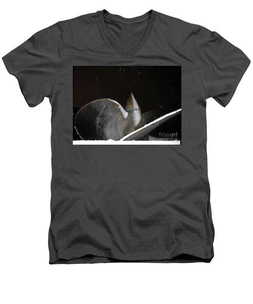 At Night In The Winter Men's V-Neck T-Shirt by Yury Bashkin