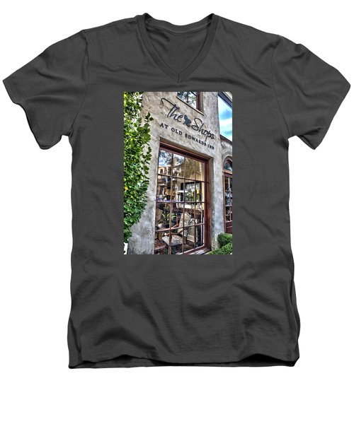 Men's V-Neck T-Shirt featuring the photograph at Old Edwards Inn by Allen Carroll