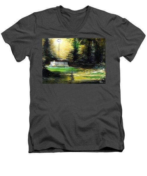 At Peace Men's V-Neck T-Shirt