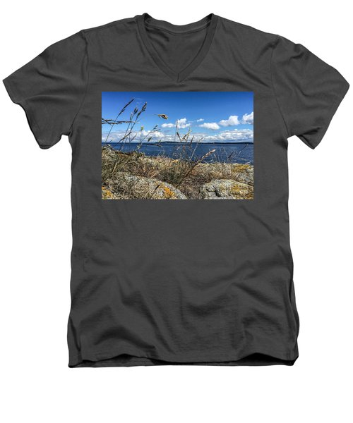 Men's V-Neck T-Shirt featuring the photograph At Point Lawrence by William Wyckoff