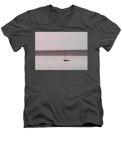 At Rest Men's V-Neck T-Shirt by Barbara McDevitt