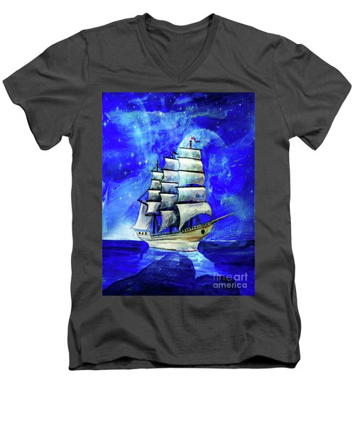 At Sea Men's V-Neck T-Shirt