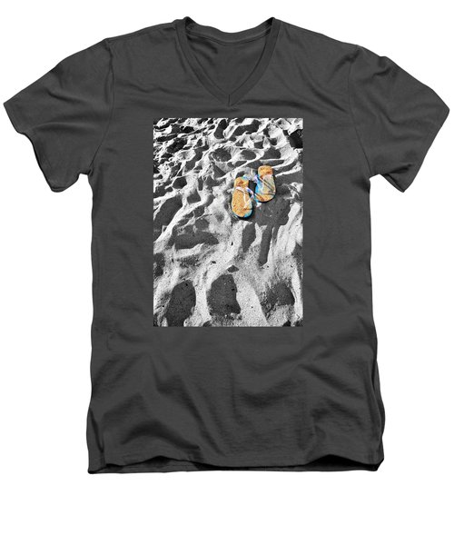 Men's V-Neck T-Shirt featuring the photograph At Sea by Marwan Khoury