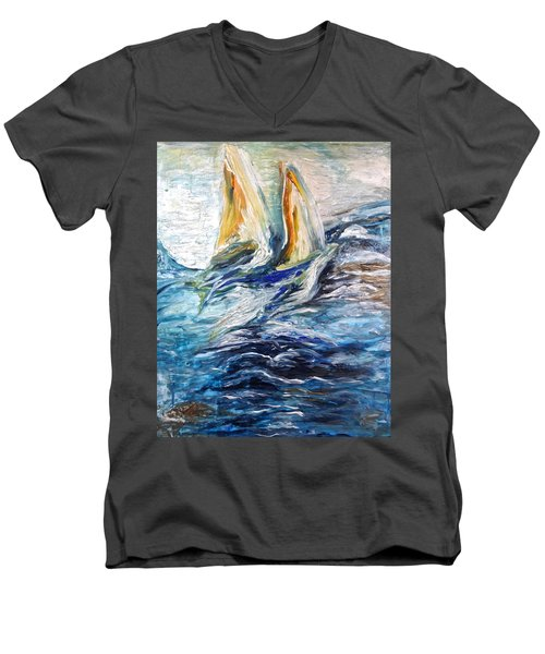 At Sea Men's V-Neck T-Shirt