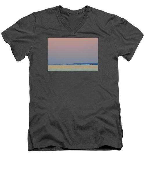 Men's V-Neck T-Shirt featuring the photograph At Speed 2  by Lyle Crump