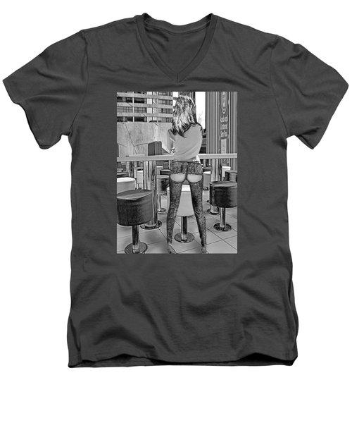 At The Bar Men's V-Neck T-Shirt