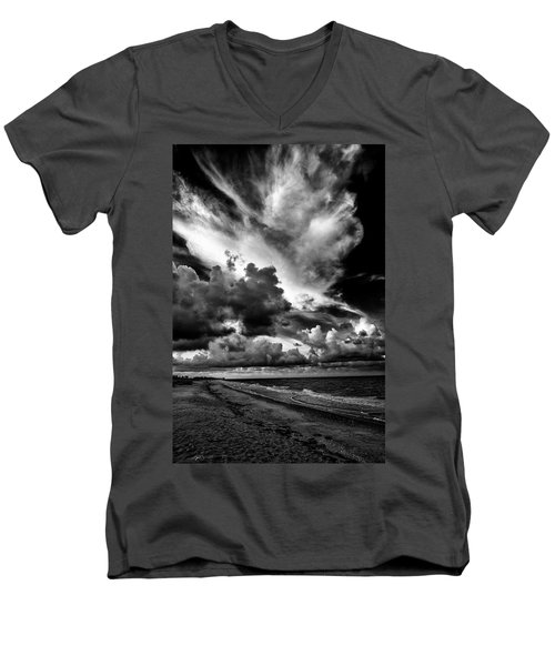 At The Beach Men's V-Neck T-Shirt by Kevin Cable