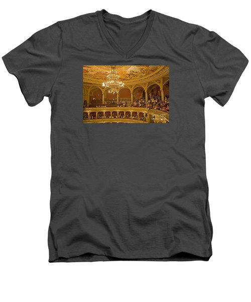 At The Budapest Opera Men's V-Neck T-Shirt by Madeline Ellis
