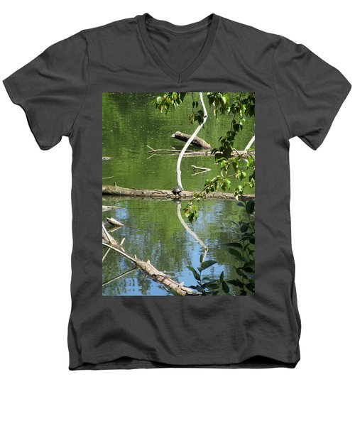 Men's V-Neck T-Shirt featuring the photograph At The Crossroads by Marie Neder