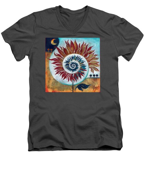 At The Edge Of Day And Night Men's V-Neck T-Shirt