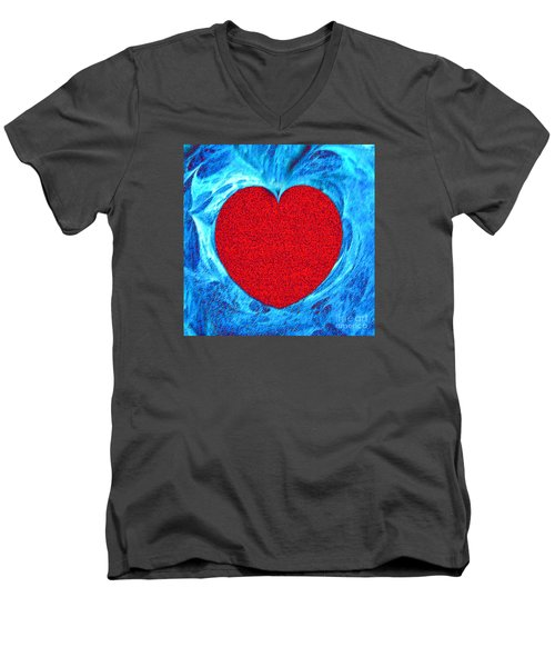 Men's V-Neck T-Shirt featuring the photograph At The Heart Of The Matter by Merton Allen