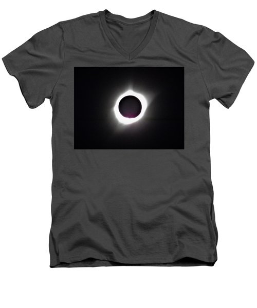 At The Moment Of Totality Men's V-Neck T-Shirt