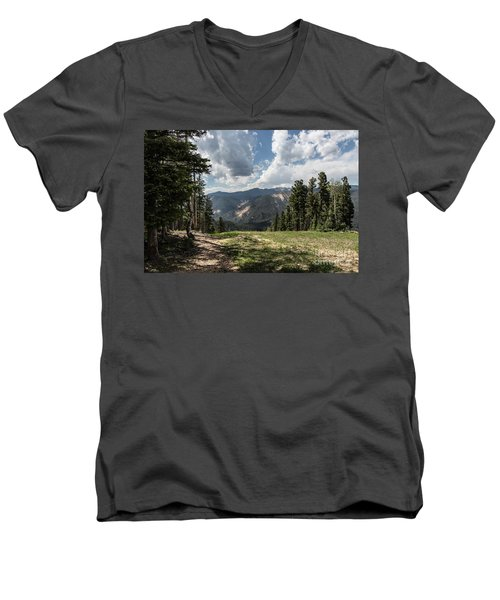 At The Top Of The Run Men's V-Neck T-Shirt