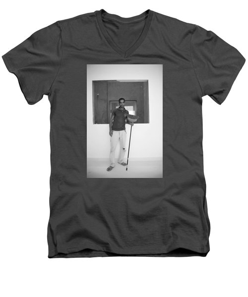Men's V-Neck T-Shirt featuring the photograph At Your Command by Jez C Self