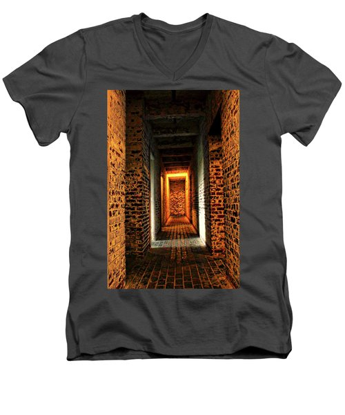 Men's V-Neck T-Shirt featuring the photograph Atalaya by Jessica Brawley