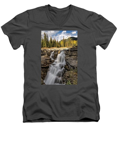 Athabasca Falls Men's V-Neck T-Shirt